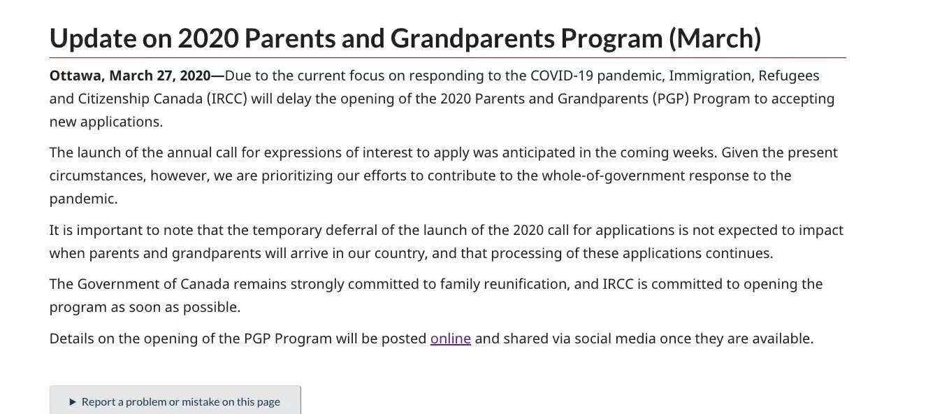 顺达快讯!受新冠疫情影响,父母团聚移民延期!1