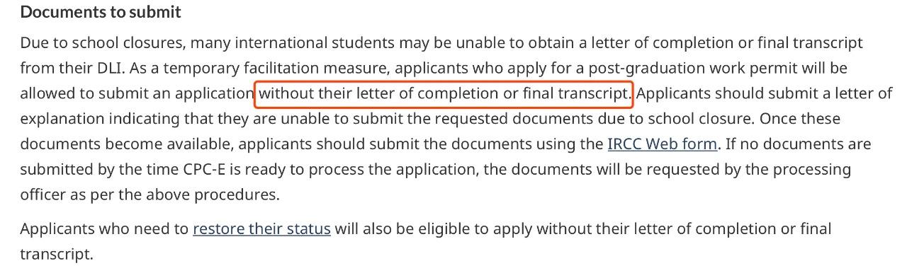 重磅利好!申请学签或工签材料不齐?加拿大移民局给出灵活政策!2