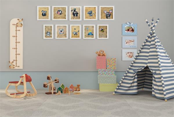 给公主和王子装饰一个炫酷的儿童房6