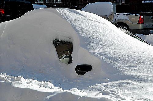 暴雪挖车,记住一定要先清除这个部位的积雪!2