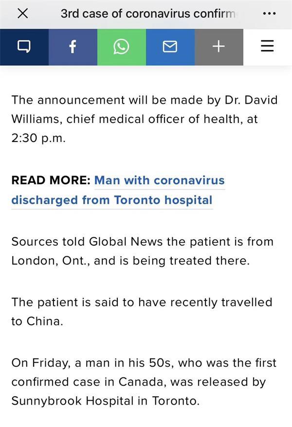 痊愈患者有再感染风险!安省又确诊1例,首例患者出院2