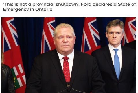 紧急宣布了!会与美国一样吗?加拿大最大省份进入紧急状态立即生效!1