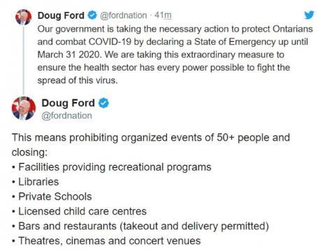 紧急宣布了!会与美国一样吗?加拿大最大省份进入紧急状态立即生效!7