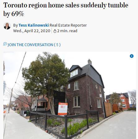 打回原形!疫情中加拿大房地产销售同比暴跌69%3