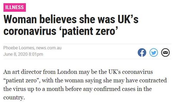 """英国惊现新的""""零号病人""""!53岁女子1月6日发病!2"""