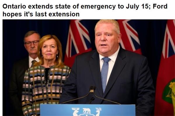 安省紧急状态延长至7月15日!皮尔逊机场推出新的防疫措施规定1