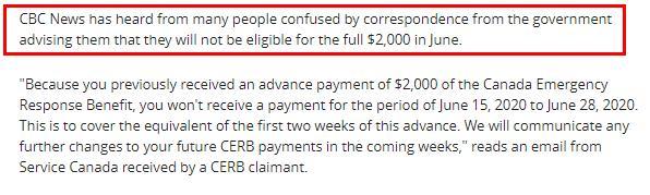 有人收到CRA来信!多发的CERB补贴会被扣除6