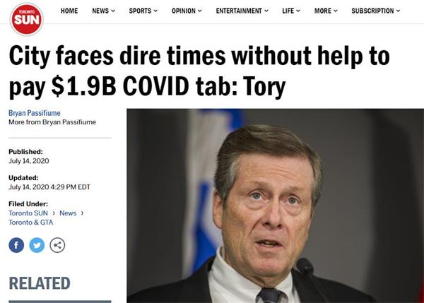 政府钱撒爽了!多伦多市没联邦支持,地税将暴涨60%!5