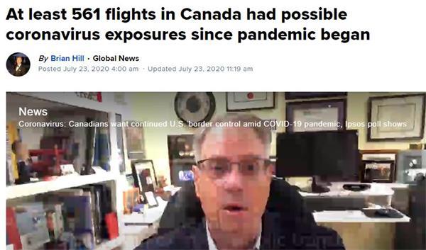 乘机旅行安全吗?疫情以来561架航班乘客暴露于病毒之中!2