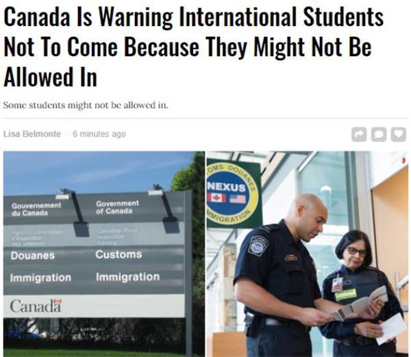 扎心了老铁们!加拿大放宽加美边境限制,只许美国大一学生入境4