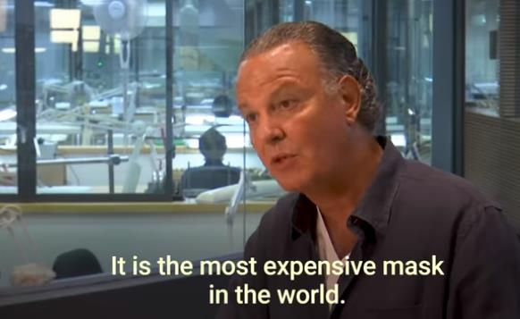镶3600颗钻!打造150万美元的超豪华口罩为哪般?1