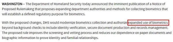 美国移民不容易!政府拟采集移民更多的生物识别信息3