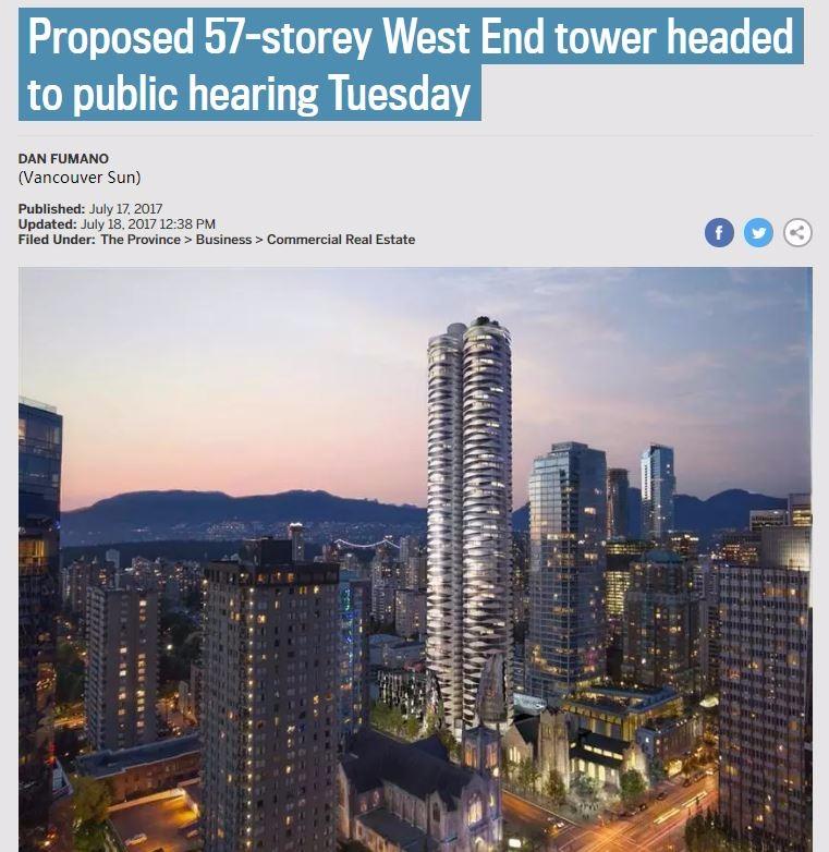 温哥华 市中心 高楼 开发商