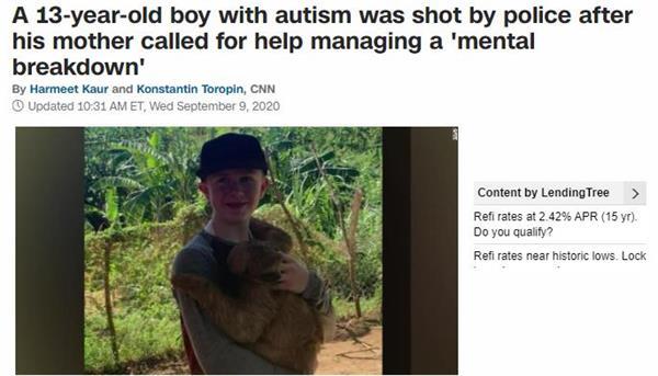 美国警察都疯了吗?13岁自闭少年遭警察开枪扫射!1