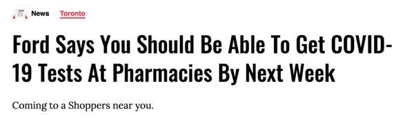 提醒!安省下周可在药店测试新冠!注册新密码应对受攻击的CRA账户2