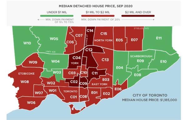 仅剩9个!多伦多中位价不足百万的独立屋仅剩这些社区5