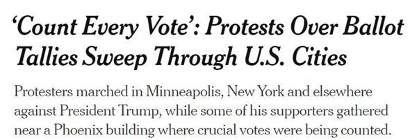 多地爆发示威游行!美国大选得民众票多者未必最后胜出7