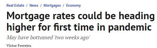 重磅!加拿大按揭利率或将大幅调升!辉瑞疫苗利好消息促贷款利率提高4