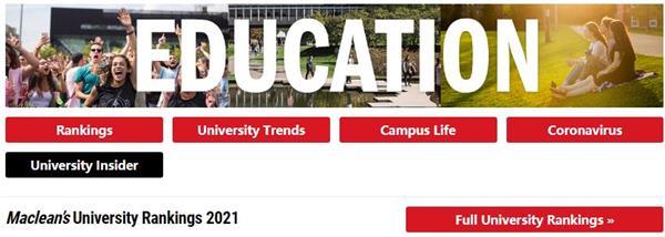 麦克林权威发布!2021年加拿大大学9大热门专业排名2