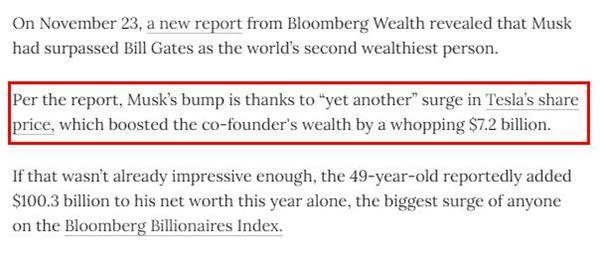 全球第二大富豪!有争议的马斯克身家一跃超过比尔·盖茨6