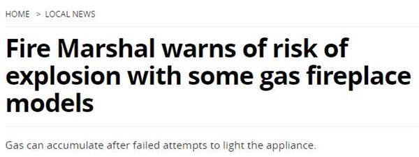 安省消防办公室披露多宗火警引发原因!冬季如何正确使用燃料器具?3
