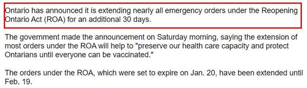 华人聚居区确诊率增加!第二剂辉瑞疫苗接种被推迟!安省紧急状态令再延3