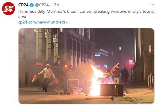 打砸抢烧!反宵禁要自由!蒙特利尔反宵禁抗议暴乱升级始末8