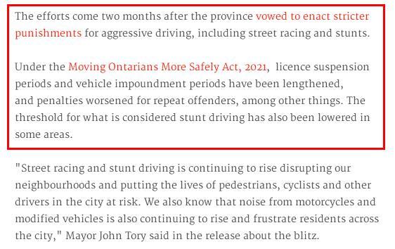 加拿大警方严打危险驾驶!吊销驾照重罚违规者!8000项街头赛车指控4
