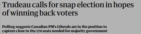 开始了!提前两年联邦大选!中加关系恐成影响特鲁多连任的关键2