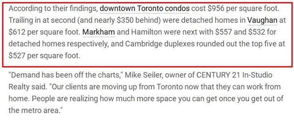 独立屋价格超百万!加拿大哪个城市房屋每平方英尺的价格最高?3